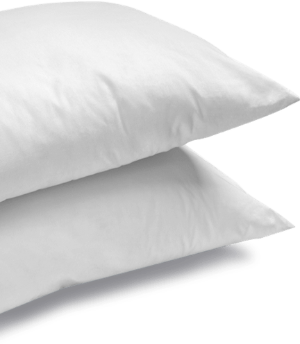 stack of two pillows