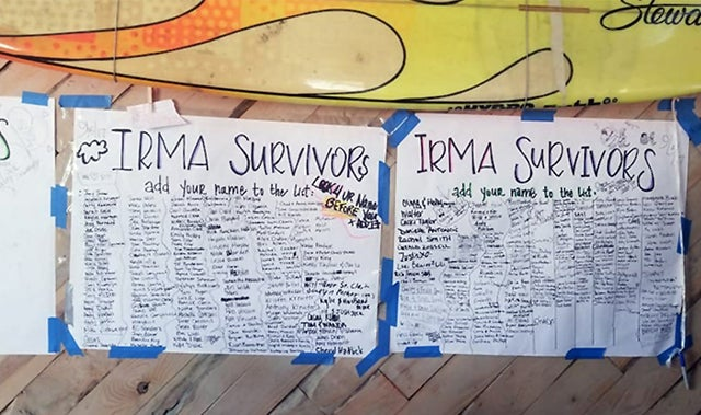 US Virgin Islands Irma Survivors List